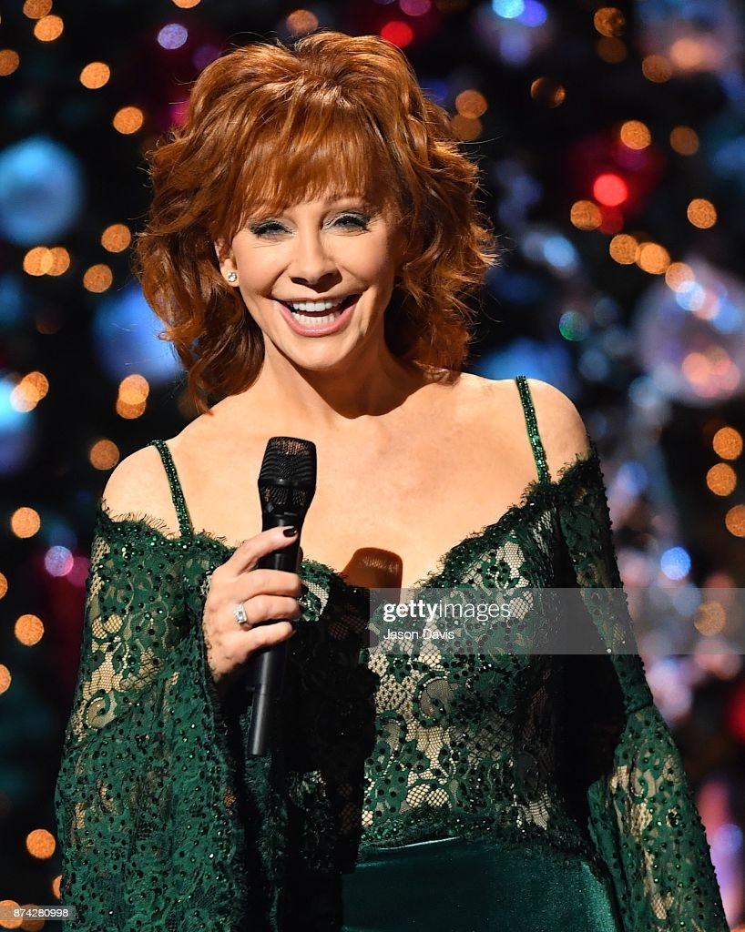 Recording Artist Reba McEntire hosts on stage during 2017 CMA Country Christmas at The Grand Ole Opry on November 14, 2017 in Nashville, Tennessee.