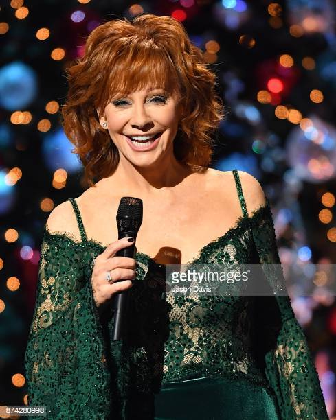Recording Artist Reba McEntire hosts on stage during 2017 CMA Country Christmas at The Grand Ole Opry on November 14 2017 in Nashville Tennessee