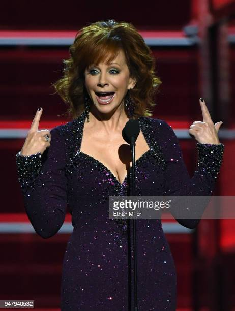 Recording artist Reba McEntire hosts the 53rd Academy of Country Music Awards at MGM Grand Garden Arena on April 15 2018 in Las Vegas Nevada