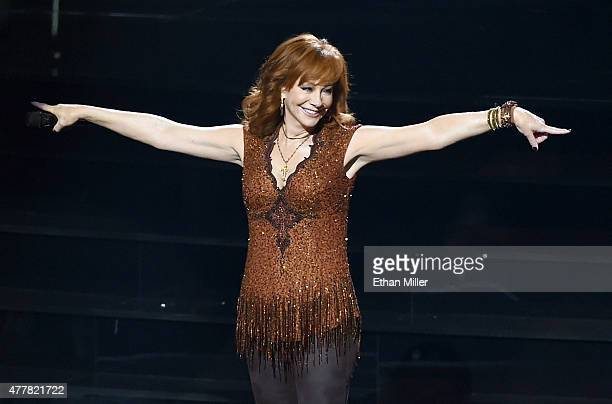 Recording artist Reba McEntire performs during the opening weekend of her residency Reba Brooks Dunn Together in Vegas with Kix Brooks and Ronnie...