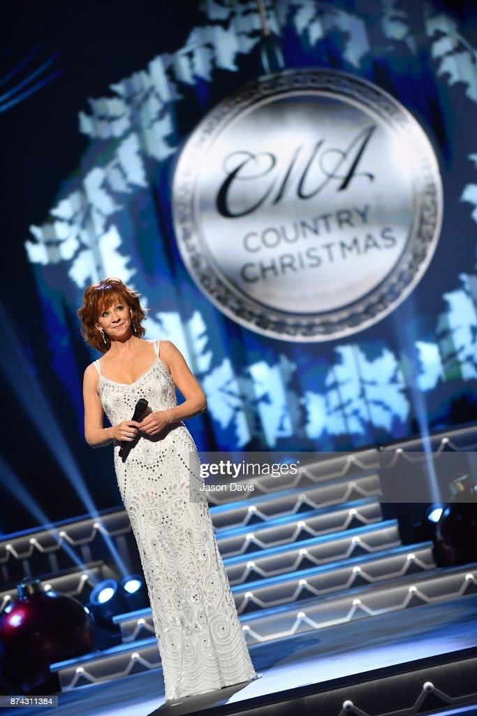 Recording Artist Reba McEntire performs on stage during the 2017 CMA Country Christmas at The Grand Ole Opry on November 14, 2017 in Nashville, Tennessee.