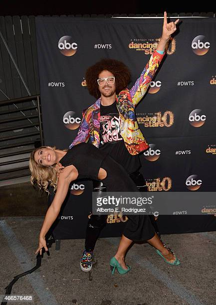 Recording artist Redfoo and professional dancer Emma Slater attend the premiere of ABC's Dancing With The Stars season 20 at HYDE Sunset Kitchen...