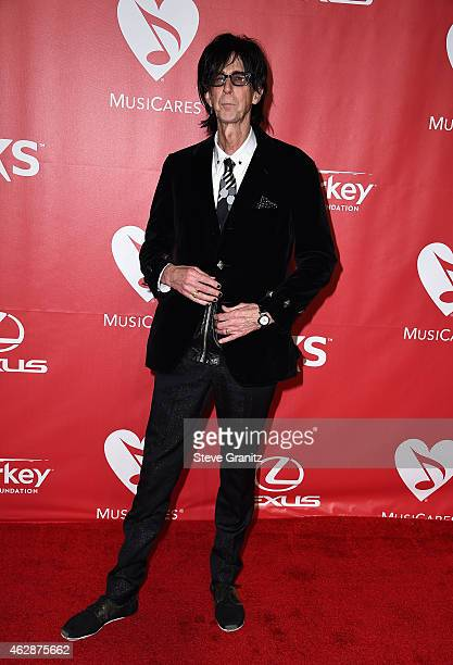 Recording artist Ric Ocasek attends the 25th anniversary MusiCares 2015 Person Of The Year Gala honoring Bob Dylan at the Los Angeles Convention...