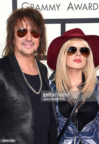 Recording artist Richie Sambora and Orianthi attend The 57th Annual GRAMMY Awards at the STAPLES Center on February 8 2015 in Los Angeles California