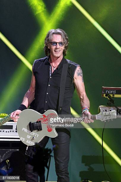 Recording artist Rick Springfield performs on stage during the iHeart80s Party 2016 at The Forum on February 20 2016 in Inglewood California