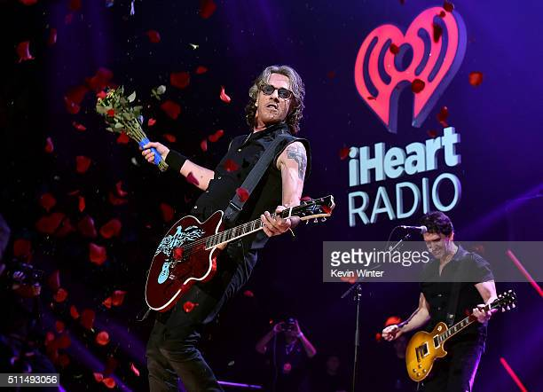 Recording artist Rick Springfield performs onstage during the first ever iHeart80s Party at The Forum on February 20 2016 in Inglewood California