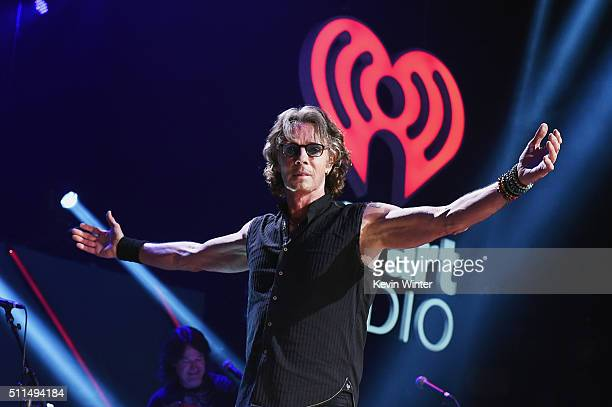 Recording artist Rick Springfield performs onstage during the first ever iHeart80s Party at The Forum on February 20, 2016 in Inglewood, California.
