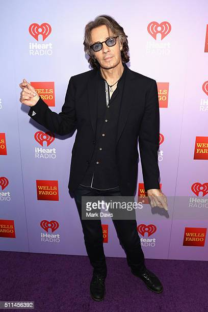 Recording artist Rick Springfield poses backstage during the first ever iHeart80s Party at The Forum on February 20 2016 in Inglewood California