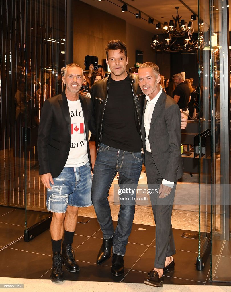 DSQUARED2 Las Vegas Grand Opening Party With Dean & Dan Caten And Ricky Martin