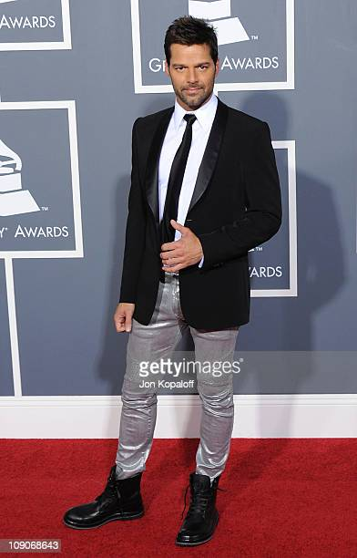 Recording artist Ricky Martin arrives at The 53rd Annual GRAMMY Awards at Staples Center on February 13 2011 in Los Angeles California