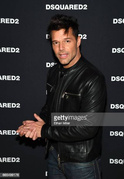 Recording artist Ricky Martin attends the grand opening party for Dsquared2 at The Shops at Crystals on April 6 2017 in Las Vegas Nevada