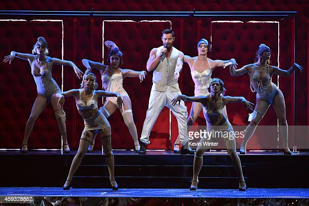 Recording artist Ricky Martin performs onstage during the 15th annual Latin GRAMMY Awards at the MGM Grand Garden Arena on November 20 2014 in Las...