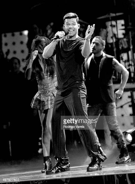 Recording artist Ricky Martin performs onstage during the 16th Latin GRAMMY Awards at the MGM Grand Garden Arena on November 19 2015 in Las Vegas...
