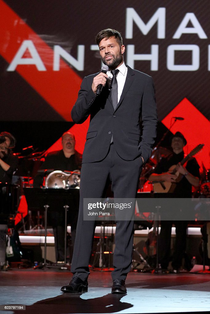 Recording artist Ricky Martin speaks onstage during the 2016 Person of the Year honoring Marc Anthony at MGM Grand Garden Arena on November 16, 2016 in Las Vegas, Nevada.