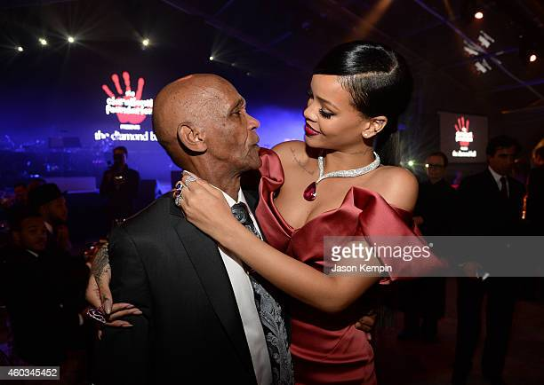 Recording artist Rihanna and Lionel Braithwaite attend The Inaugural Diamond Ball presented by Rihanna and The Clara Lionel Foundation at The...