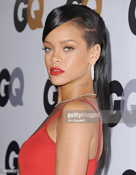 Recording artist Rihanna arrives at GQ Men Of The Year Party at Chateau Marmont on November 13 2012 in Los Angeles California