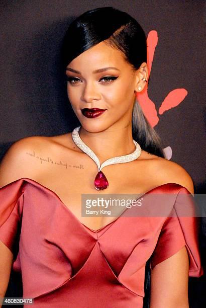 Recording Artist Rihanna arrives at Rihanna's First Annual Diamond Ball at The Vineyard on December 11 2014 in Beverly Hills California