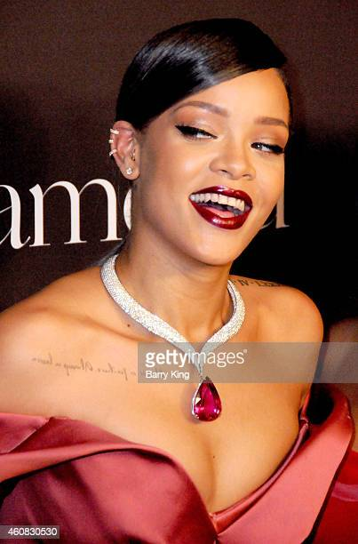 Recording Artist Rihanna arrives at Rihanna's First Annual Diamond Ball at The Vineyard on December 11 2014 in Beverly Hills California