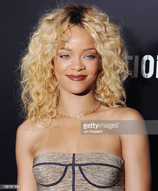 Recording artist Rihanna arrives at Roc Nation's Hosts Annual Private PreGRAMMY Brunch at Soho House on February 11 2012 in West Hollywood California