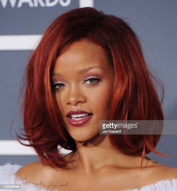 Recording artist Rihanna arrives at The 53rd Annual GRAMMY Awards at Staples Center on February 13, 2011 in Los Angeles, California.