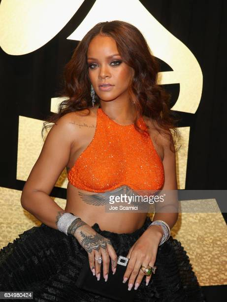 Recording artist Rihanna at The 59th Annual GRAMMY Awards at STAPLES Center on February 12 2017 in Los Angeles California