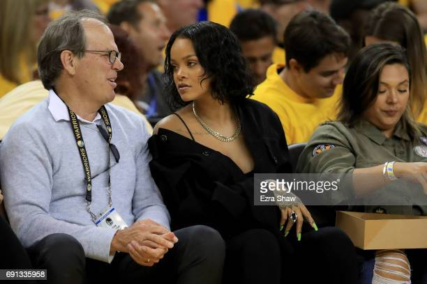 Recording artist Rihanna attends Game 1 of the 2017 NBA Finals at ORACLE Arena on June 1 2017 in Oakland California NOTE TO USER User expressly...
