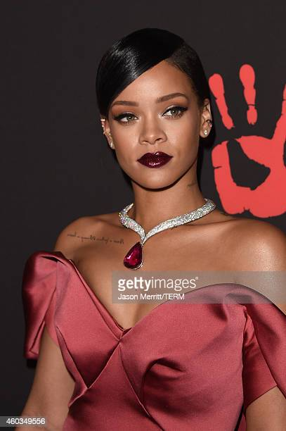 Recording artist Rihanna attends Rihanna's 1st Annual Diamond Ball Benefitting The Clara Lionel Foundation at The Vineyard on December 11 2014 in...