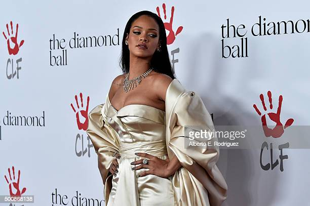 Recording artist Rihanna attends the 2nd Annual Diamond Ball hosted by Rihanna and The Clara Lionel Foundation at The Barker Hanger on December 10,...