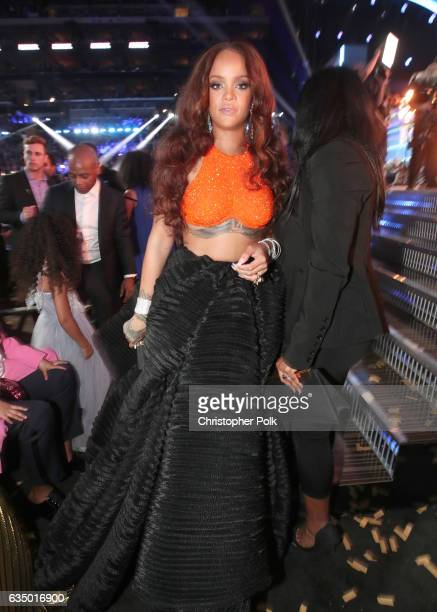 Recording artist Rihanna attends The 59th GRAMMY Awards at STAPLES Center on February 12 2017 in Los Angeles California