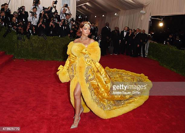 Recording artist Rihanna attends the 'China Through The Looking Glass' Costume Institute Benefit Gala at the Metropolitan Museum of Art on May 4 2015...