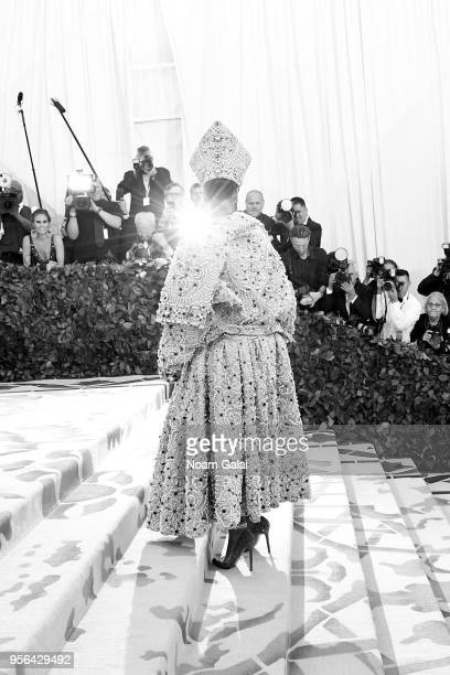 Recording artist Rihanna attends the Heavenly Bodies Fashion The Catholic Imagination Costume Institute Gala at The Metropolitan Museum of Art on May...