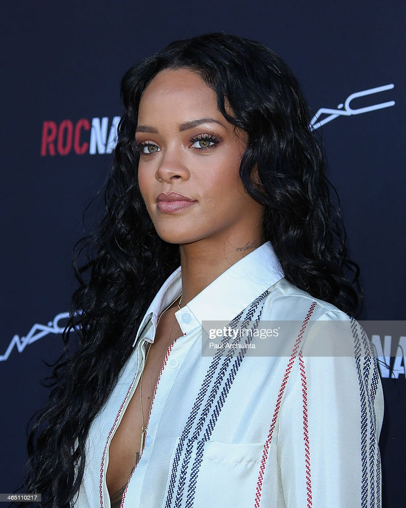 Recording Artist Rihanna attends the Roc Nation pre-Grammy brunch on January 25, 2014 in Los Angeles, California.