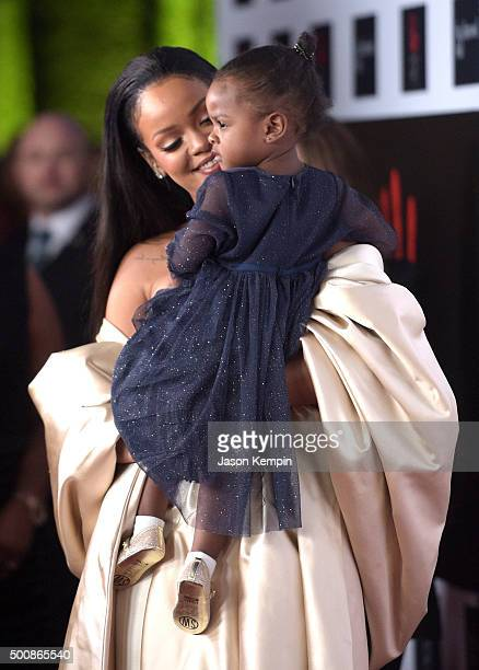 Recording artist Rihanna holds Majesty at the 2nd Annual Diamond Ball hosted by Rihanna and The Clara Lionel Foundation at The Barker Hanger on...