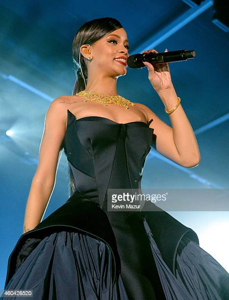 Recording artist Rihanna performs at The Inaugural Diamond Ball presented by Rihanna and The Clara Lionel Foundation at The Vineyard on December 11...