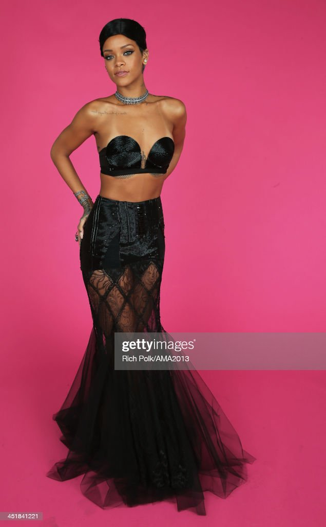 Recording artist Rihanna poses for a portrait during the 2013 American Music Awards at Nokia Theatre L.A. Live on November 24, 2013 in Los Angeles, California.