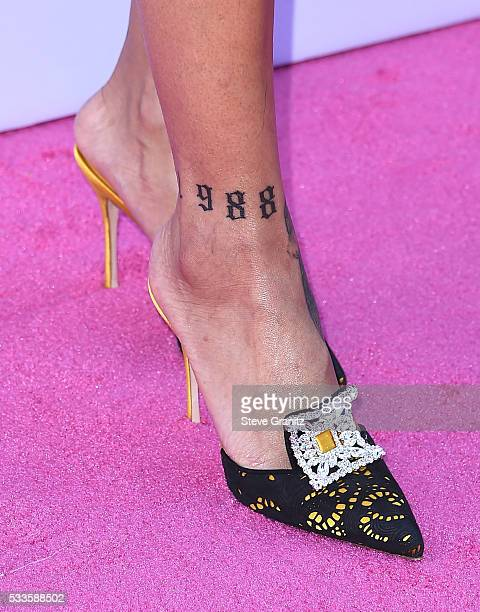 Recording artist Rihanna tattoo and shoe details attends the 2016 Billboard Music Awards at TMobile Arena on May 22 2016 in Las Vegas Nevada