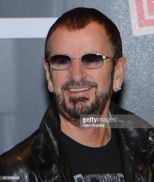Recording artist Ringo Starr appears at a photo exhibition of his photography work at the Palms Casino Resort on November 23, 2013 in Las Vegas,...