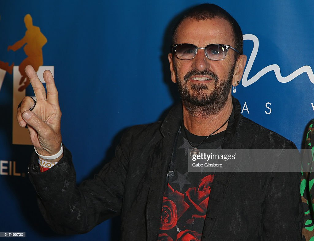 Recording artist Ringo Starr attends the 10th anniversary celebration of 'The Beatles LOVE by Cirque du Soleil' at The Mirage Hotel & Casino on July 14, 2016 in Las Vegas, Nevada.