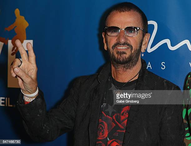 Recording artist Ringo Starr attends the 10th anniversary celebration of 'The Beatles LOVE by Cirque du Soleil' at The Mirage Hotel Casino on July 14...