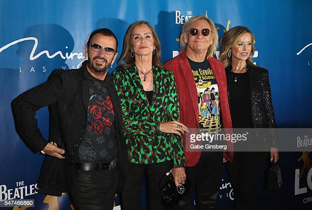 Recording artist Ringo Starr his wife Barbara Bach musician Joe Walsh and his wife Marjorie Bach attend the 10th anniversary celebration of The...
