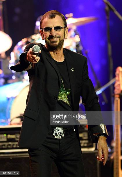 Recording artist Ringo Starr performs with Ringo Starr His AllStarr Band at The Pearl concert theater at the Palms Casino Resort on November 22 2013...