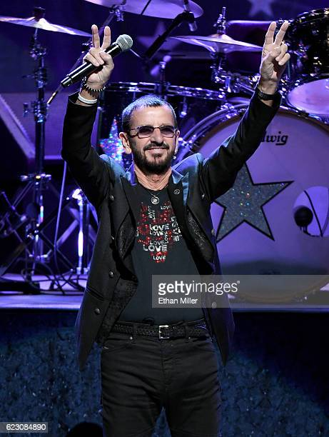 Recording artist Ringo Starr performs with Ringo Starr & His All-Starr Band at The Smith Center for the Performing Arts on November 13, 2016 in Las...
