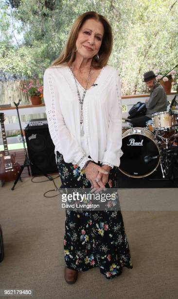 Recording artist Rita Coolidge visits Hallmark's Home Family at Universal Studios Hollywood on April 27 2018 in Universal City California