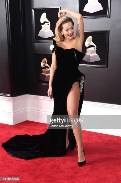 Recording artist Rita Ora attends the 60th Annual GRAMMY Awards at Madison Square Garden on January 28 2018 in New York City
