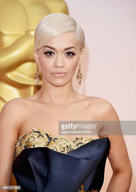 Recording artist Rita Ora attends the 87th Annual Academy Awards at Hollywood Highland Center on February 22 2015 in Hollywood California