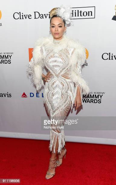 Recording artist Rita Ora attends the Clive Davis and Recording Academy PreGRAMMY Gala and GRAMMY Salute to Industry Icons Honoring JayZ on January...
