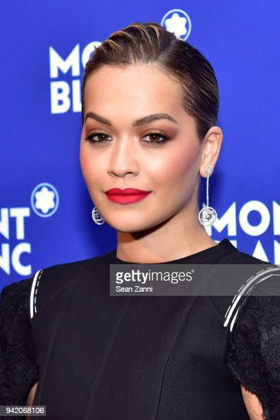 Recording artist Rita Ora attends the Montblanc Meisterstuck Le Petit Prince event at One World Trade Center Observatory on April 4 2018 in New York...