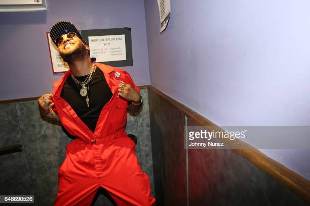 Recording artist Ro James backstage at Highline Ballroom on February 28 2017 in New York City