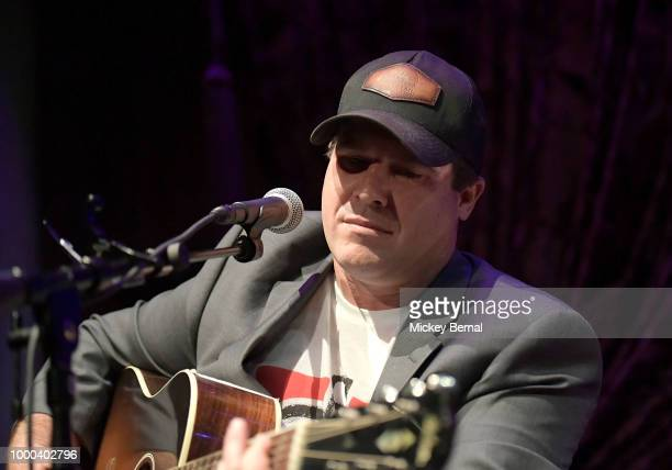 Recording Artists Dallas Davidson Tyler Farr Lee Brice Jake Owen and Rob Hatch perform during Lee Brice Presents The Analog Series at Hutton Hotel on...