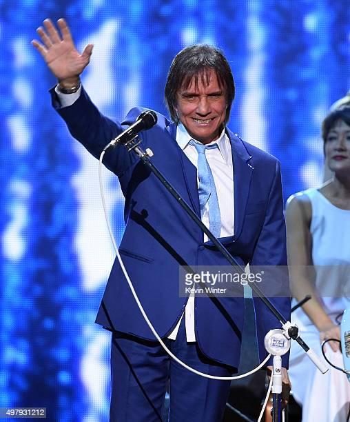 Recording artist Roberto Carlos performs onstage during the 16th Latin GRAMMY Awards at the MGM Grand Garden Arena on November 19 2015 in Las Vegas...